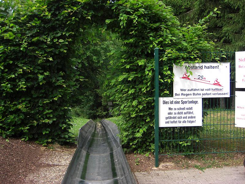Start an der Sommerrodelbahn Peterberg