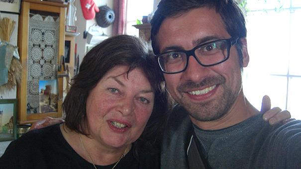 Ich mit Blanca Knodel, der Türmerin von Bad Wimpfen