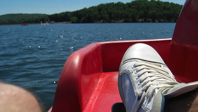 Bostalsee_Tretboot-fahren