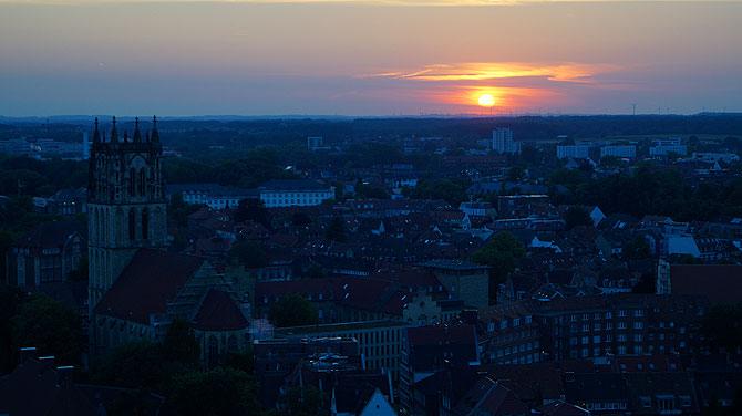Türmerin-von-Münster-Sonnenuntergang