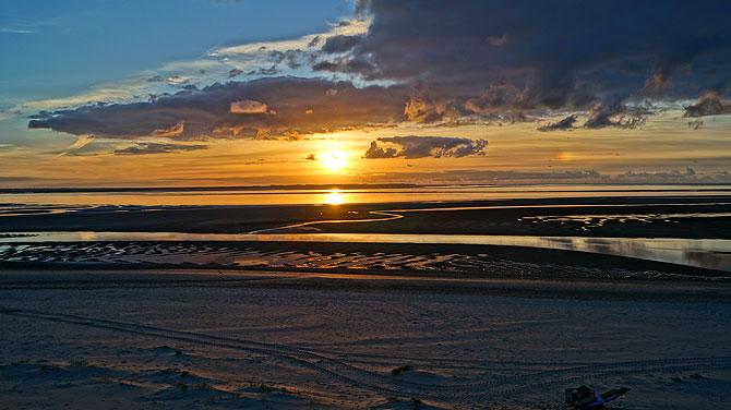 Langeoog-Flinthörn-Sonnenuntergang