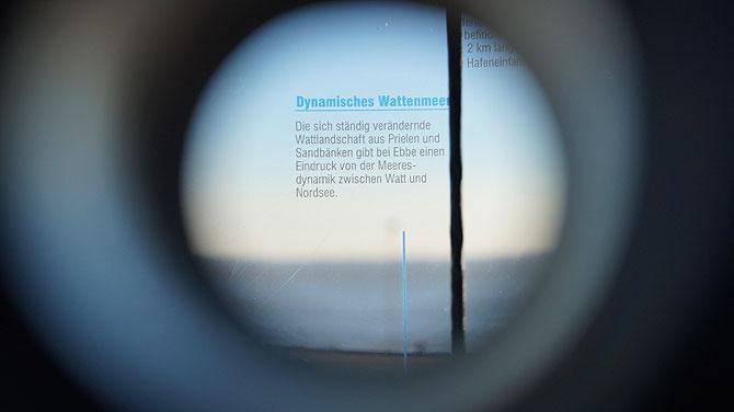 """Fernrohr """"Dynamisches Wattenmeer"""""""