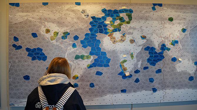 Weltkarte in den Wattwelten