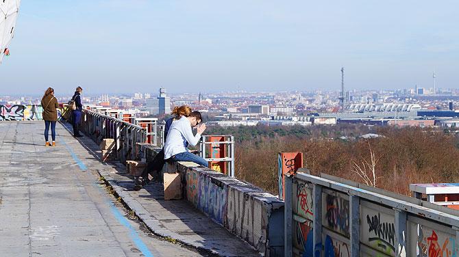 Dachterrasse auf dem Teufelsberg