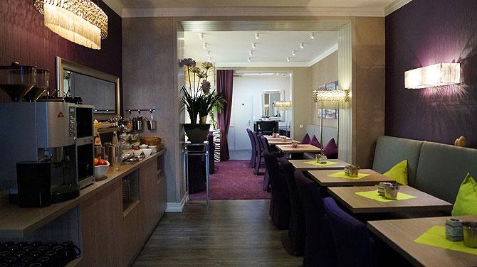 Frühstücksraum im Hotel Porta Nigra