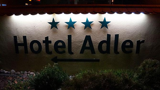 4 Sterne zieren das Hotel - im wahrsten Sinne des Wortes
