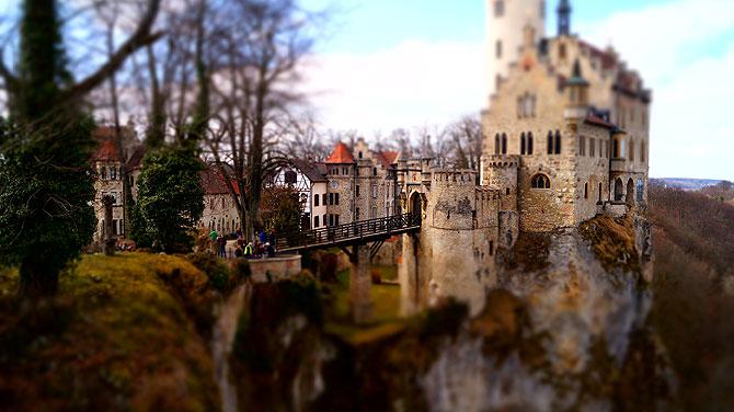 Miniatureffekt des Schlosses