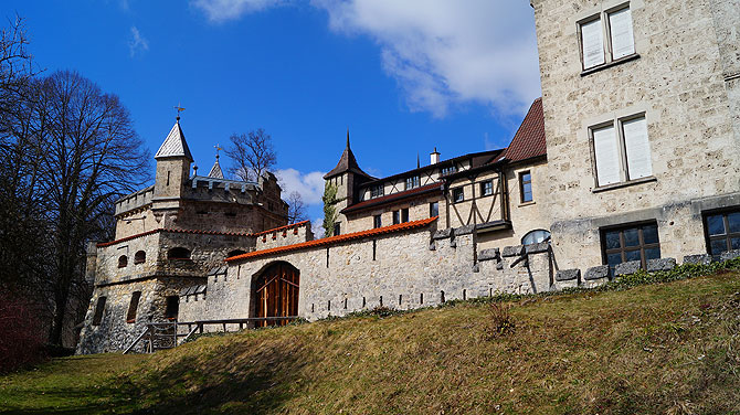 Die Lichtensteiner Schlossmauern