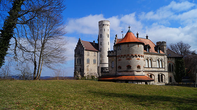 Die Türme von Schloss Lichtenstein sehen putzig aus.