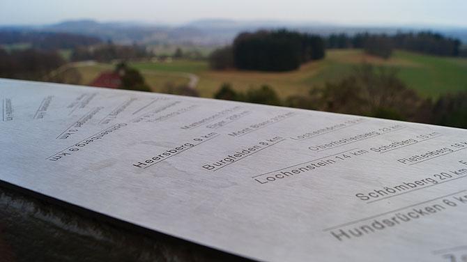 Ausblick vom Raichbergturm auf das Umland.