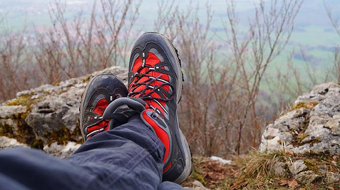 Es gibt eine Menge toller Aussichtspunkte auf dem Zollernburg Panoramaweg.