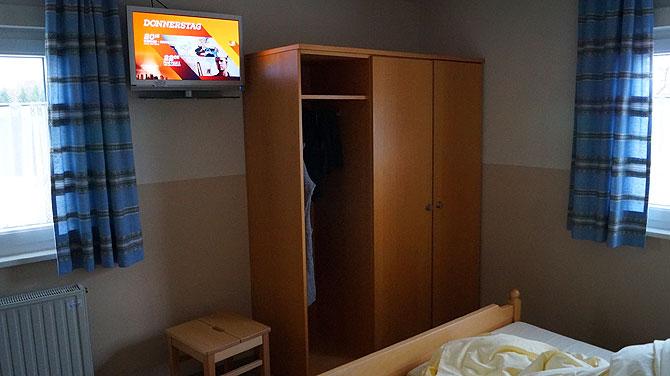 Die Zimmer sind praktisch eingerichtet