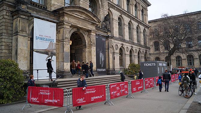 Eingang ins Berliner Naturkundemuseum