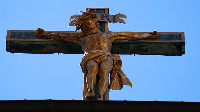 Jesus wacht in St. Blasien über seine Schäfchen.