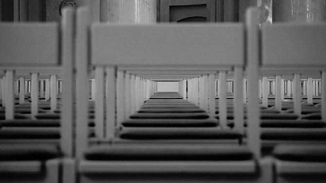 Leere Stühle in St. Blasien