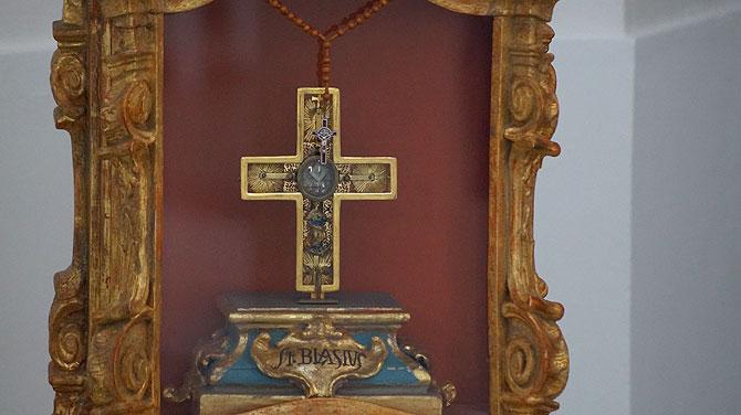 Die Reliquie: Gebeine des Heiligen Blasius