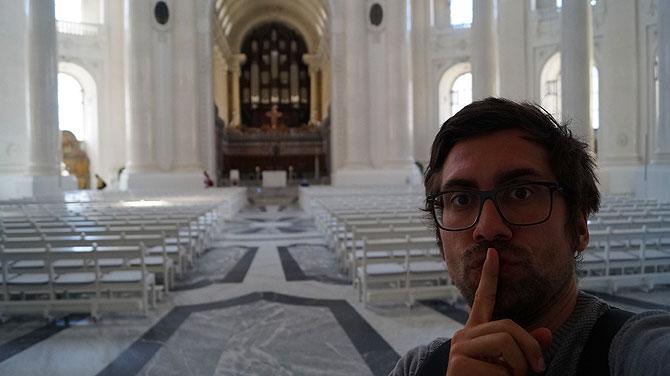 Ich im Dom St. Blasien: Ruhe, bitte!