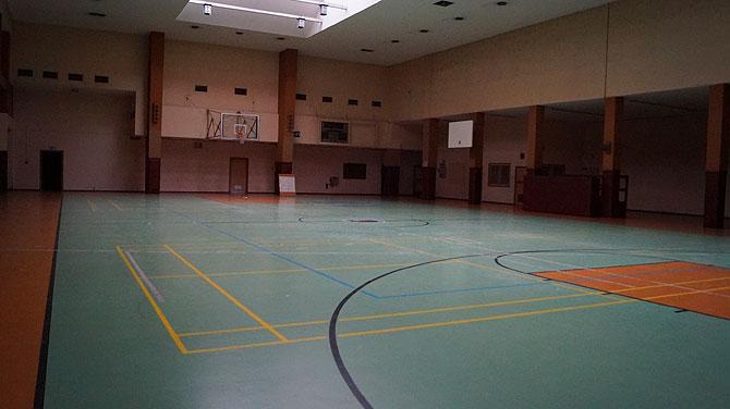 Basketballhalle im ehemaligen Flughafen Tempelhof