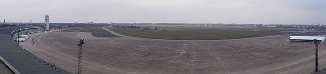 Panoramasicht auf das Tempelhofer Feld
