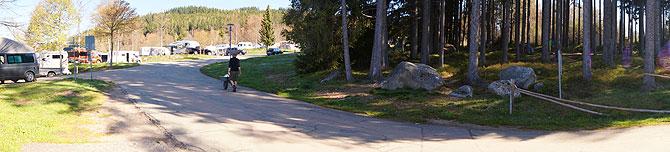 Panoramablick auf den Campingplatz