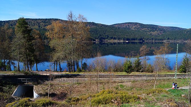 Das Camp liegt direkt am Schluchsee.