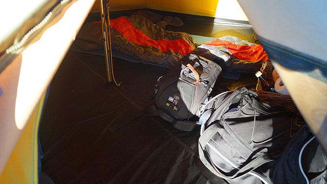 Die Glamping-Zelte sind ziemlich groß.