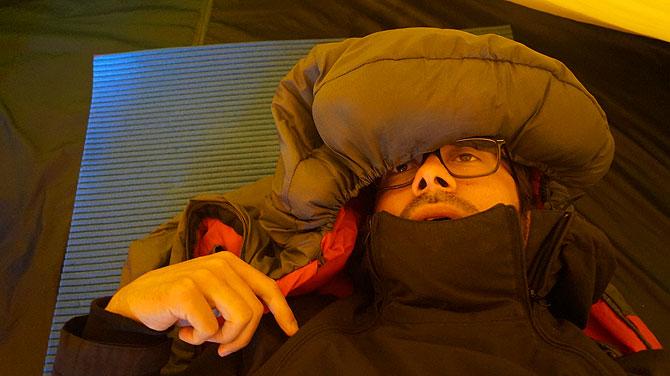 Ich im Raff Taff Zelt