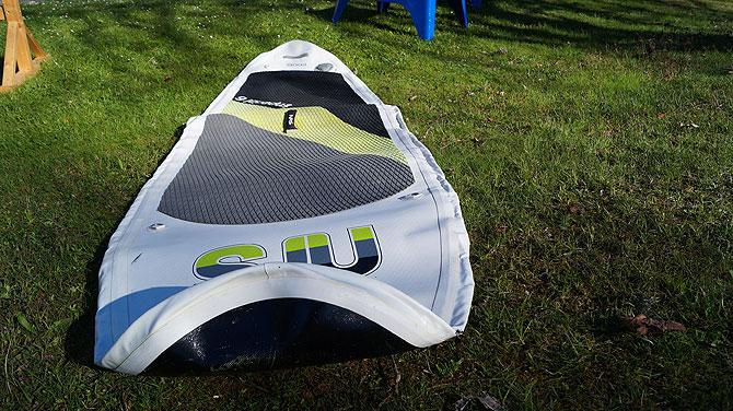 So sieht ein Inflatable im Rohzustand aus.