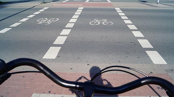Rad fahren ist definitv typisch Münster.