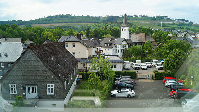 Ausblick vom Zimmer auf Bestwig-Ostwig