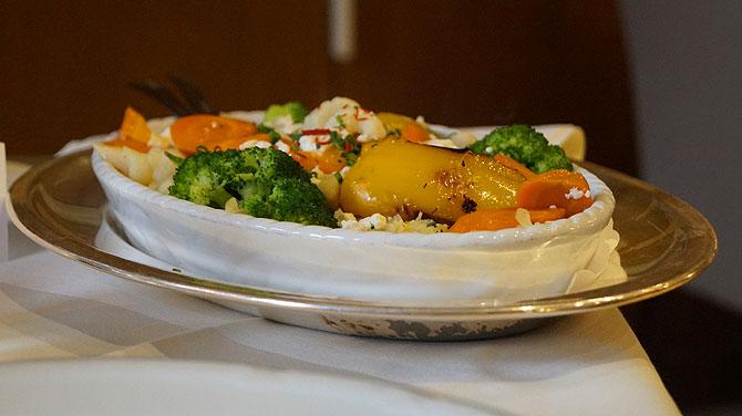 Vegetarisches Gericht im Restaurant