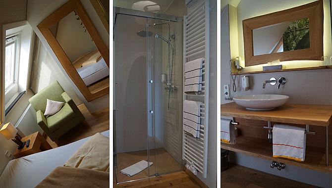 Eindrücke vom Zimmer und vom Bad