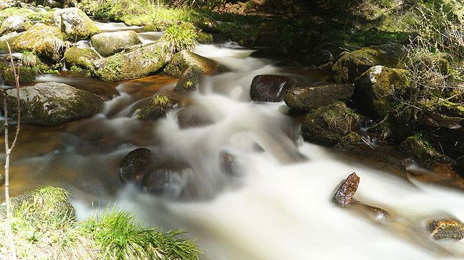 Wasserfall in Menzenschwand mit Langzeitbelichtung