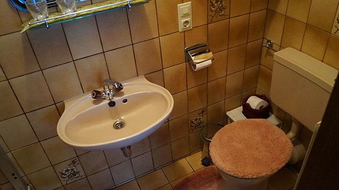 Das Bad ist oldschool alias retro.