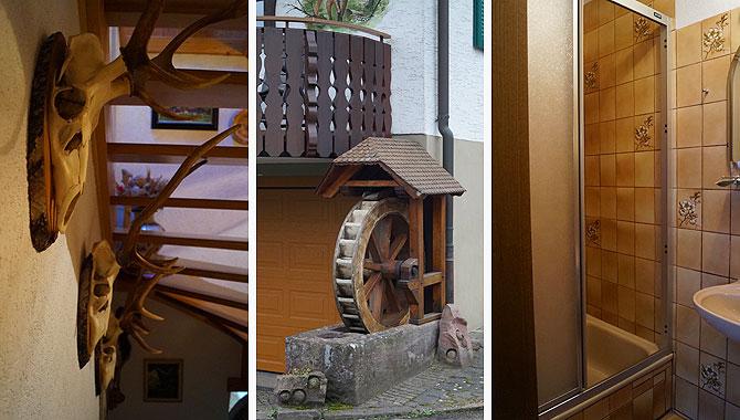 Zur Pension Hubertus gehört auch eine Hausmühle