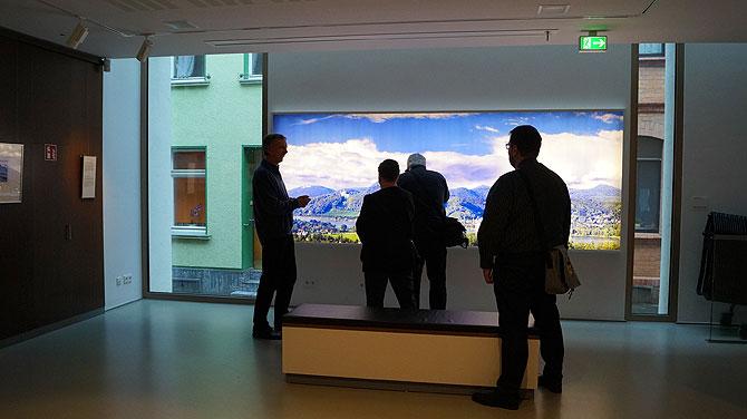 Diarama am Eingang des Museums
