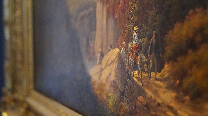 Der Esel im das Leitmotiv im Museum.