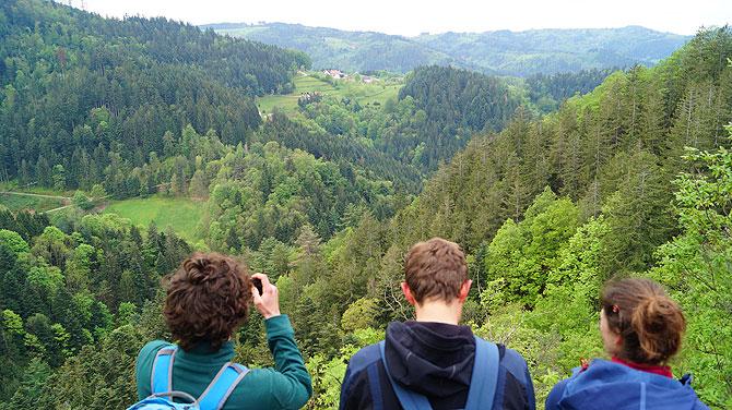 Ausblick vom Karlsruher Grat aufs Achertal