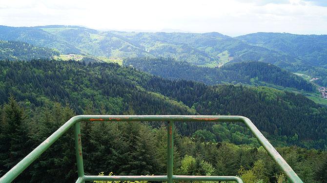 Ausblick von der Aussichtsplattform Brennte Schrofen