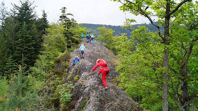 Der Klettersteig ist eigentlich keiner.
