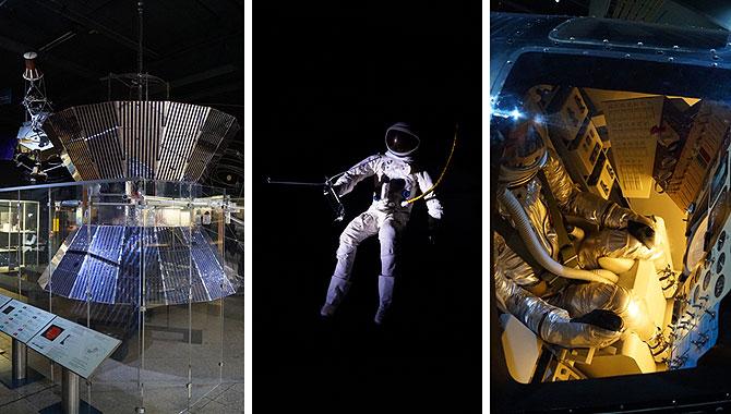 Raumfahrt ist ein ganz großes Thema im Deutschen Museum..