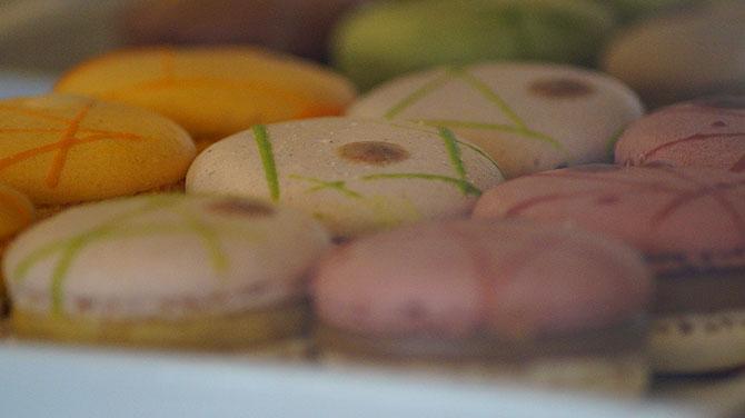 Die Macarons werden aus Frankreich geliefert.