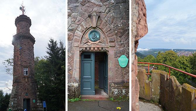 Eingang und Aussichtsplattform des Turms