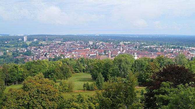 Von oben hast du einen tollen Panoramablick.