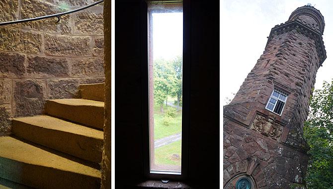 Treppenstufen und Ausblick