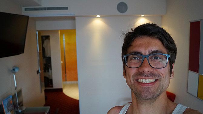 Ich im Hotel Radisson Blu Erfurt