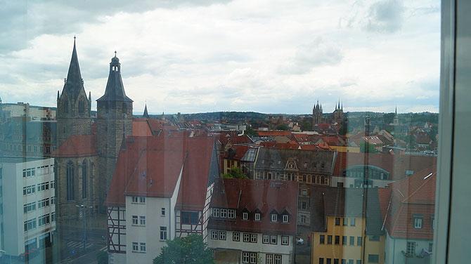 Super Ausblick auf Altstadt und Erfurter Dom
