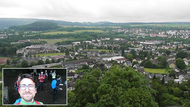 Stadt Westerburg mit Schloss ganz rechts (nicht mehr auf dem Foto)