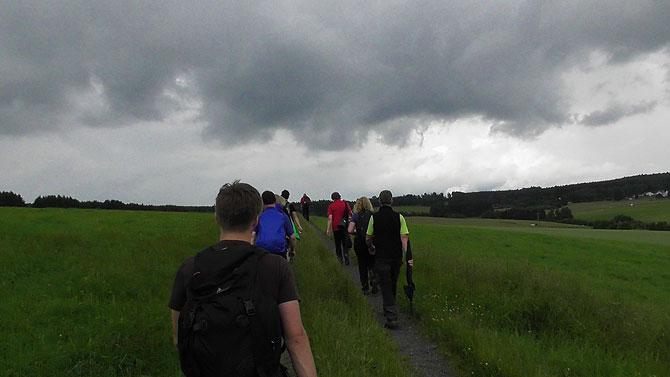 Das Bloggerwandern im Westerwald startet mit schlechtem Wetter.