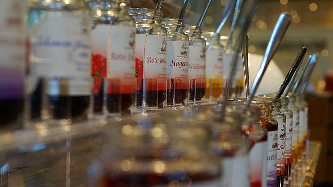 So noch nie gesehen: Auswahl an Marmelade